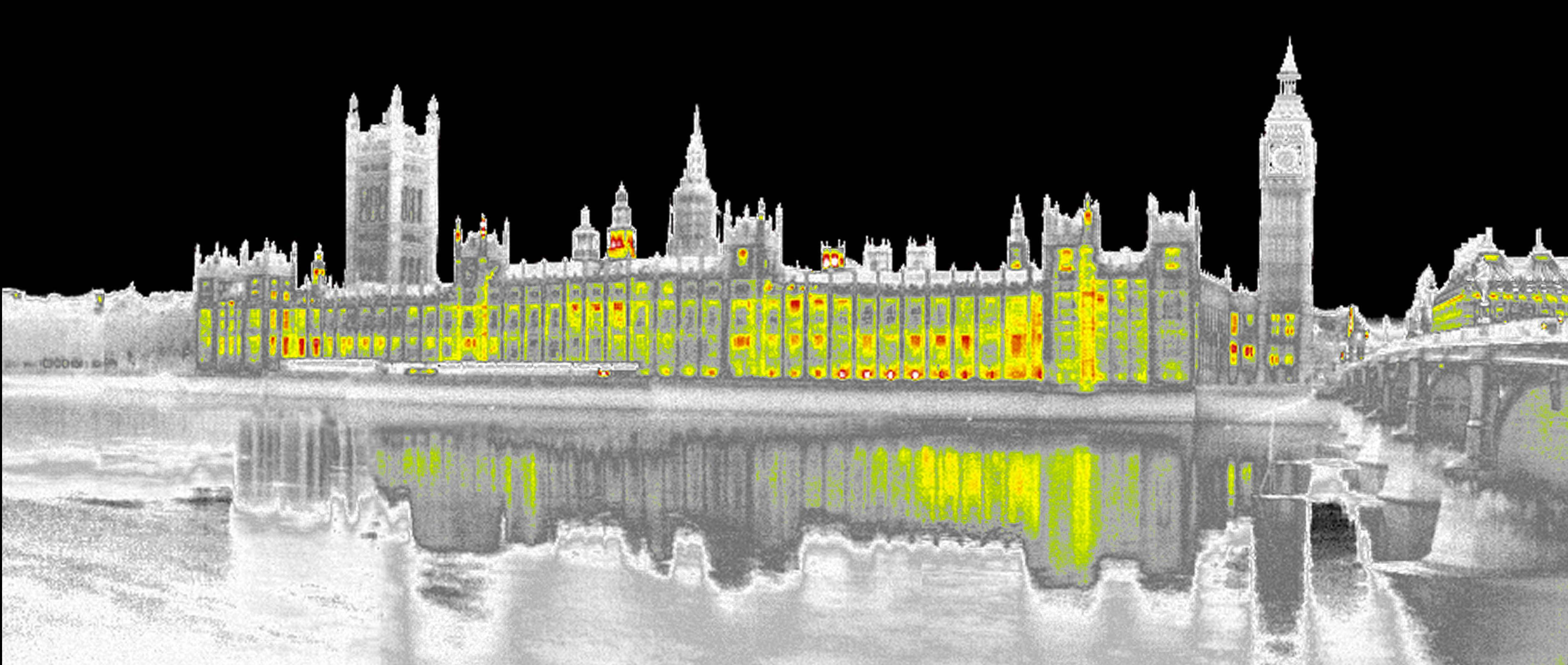 thermal imaging of the houses of parliament