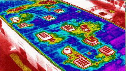 Thermal Image of Flat Roof Defects