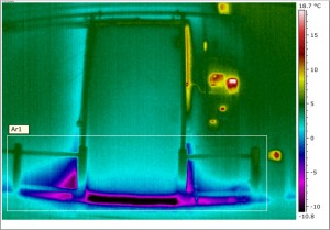 electrical survey image showing refridgerator in infrared imaging