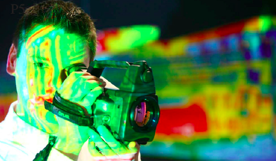 infrared camera and operator