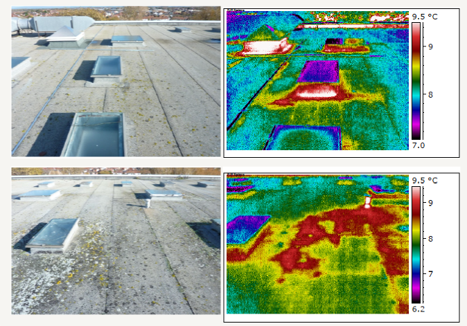infrared image of roof Unity Academy